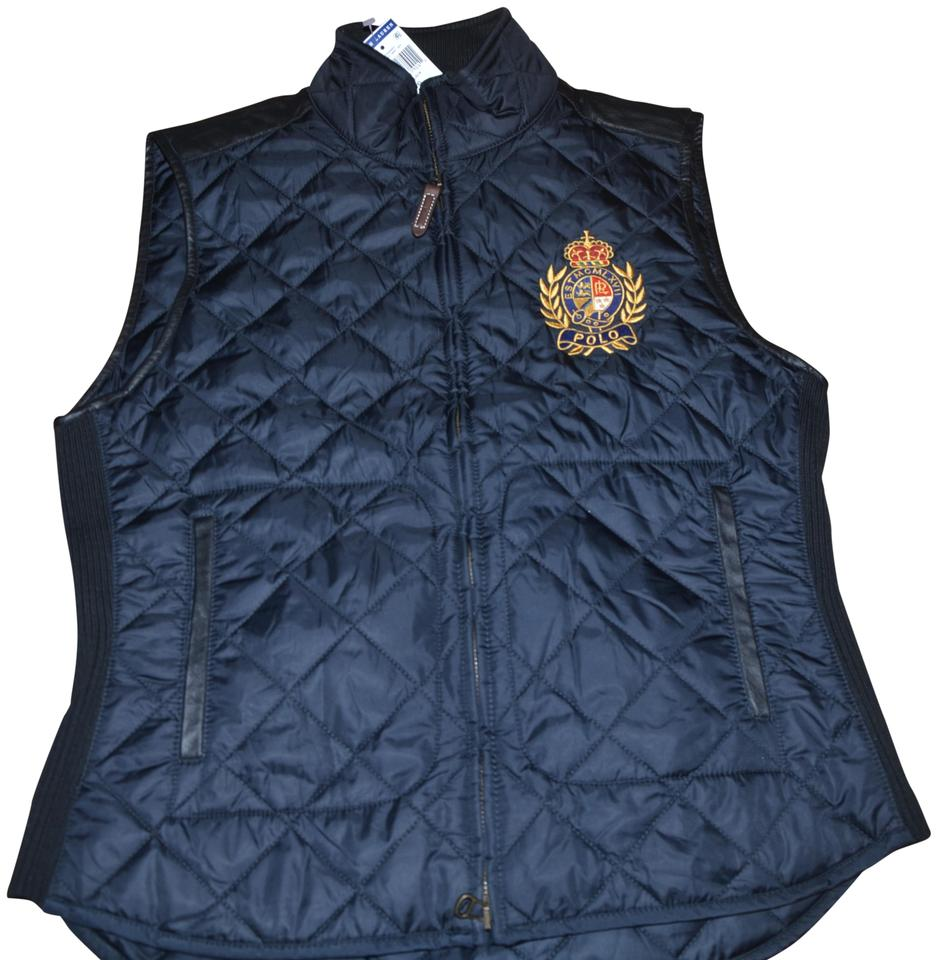 886d2f29ec Ralph Lauren Black Polo Quilted Equestrian Crest   Leather Patch ...
