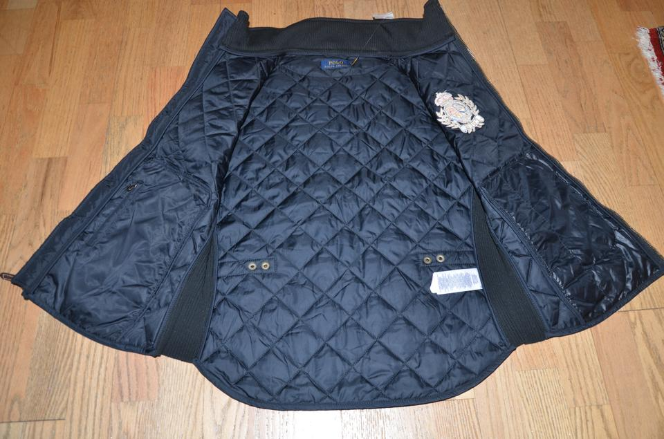 be91e9538 Ralph Lauren Black Polo Quilted Equestrian Crest   Leather Patch Vest Size  12 (L) - Tradesy
