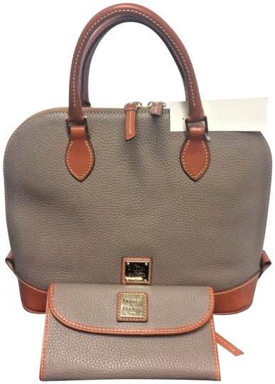 Preload https://img-static.tradesy.com/item/24555054/dooney-and-bourke-lot-matching-checkbook-elephant-brown-taupe-leather-satchel-0-1-540-540.jpg