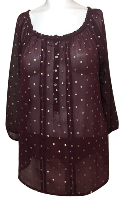 Preload https://img-static.tradesy.com/item/24555075/abercrombie-and-fitch-maroon-gold-polka-dots-blouse-size-12-l-0-1-650-650.jpg