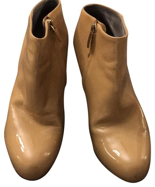 Item - Nude Patent Leather Boots/Booties Size EU 38.5 (Approx. US 8.5) Regular (M, B)