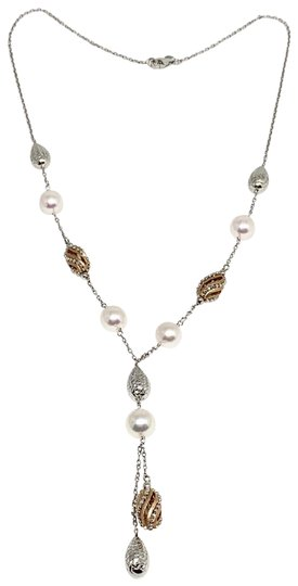 Preload https://img-static.tradesy.com/item/24555091/white-certified-2970-ladys-akoya-pearl-9-830mm-14kt-and-rose-gold-20416-necklace-0-9-540-540.jpg