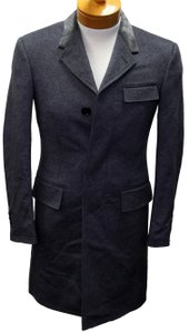 Thom Browne Monogram Uk Fashion France Classy Structured Pea Coat