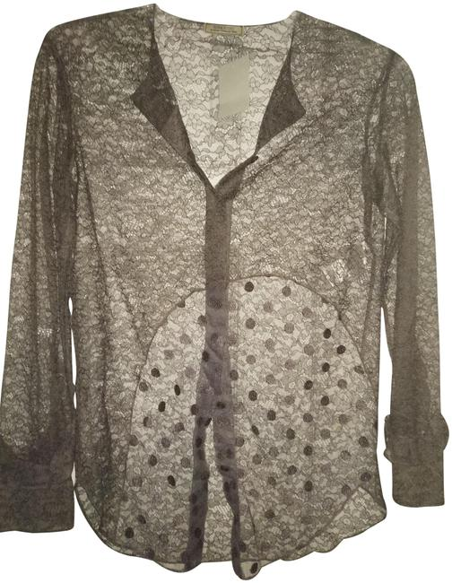 Preload https://img-static.tradesy.com/item/24555169/nina-ricci-36-paris-lace-sheer-ruffled-sleeve-blouse-grey-top-0-1-650-650.jpg