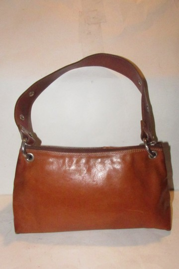 Texier Excellent Vintage High-end Bohemian France Equestrian Accents Camel Leather/Chrome Hobo Bag Image 1