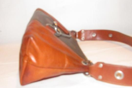 Texier Excellent Vintage High-end Bohemian France Equestrian Accents Camel Leather/Chrome Hobo Bag Image 10