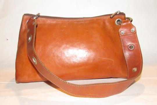 Texier Excellent Vintage High-end Bohemian France Equestrian Accents Camel Leather/Chrome Hobo Bag Image 11