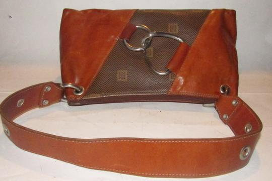 Texier Excellent Vintage High-end Bohemian France Equestrian Accents Camel Leather/Chrome Hobo Bag Image 2