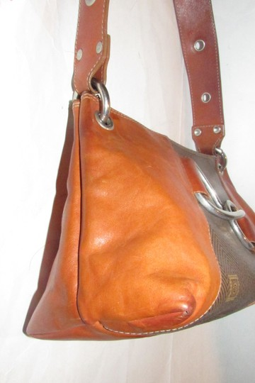 Texier Excellent Vintage High-end Bohemian France Equestrian Accents Camel Leather/Chrome Hobo Bag Image 4