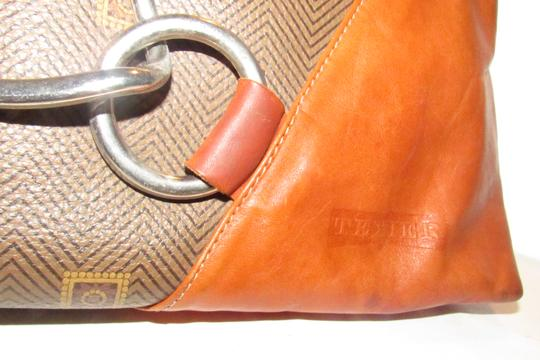 Texier Excellent Vintage High-end Bohemian France Equestrian Accents Camel Leather/Chrome Hobo Bag Image 7