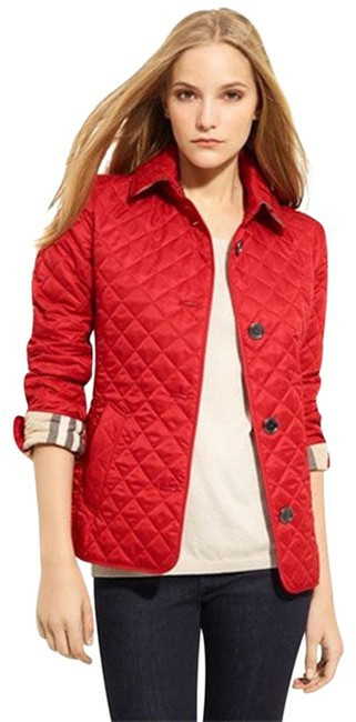 Item - Red Copford Quilted Check Jacket Size 4 (S)