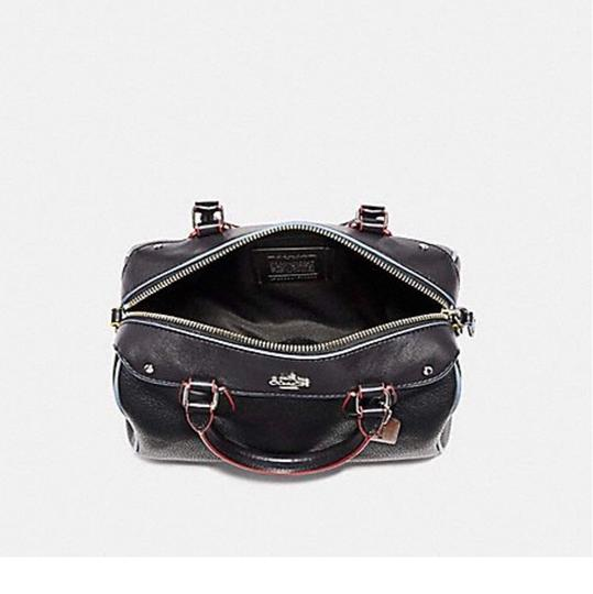 Coach Satchel in SILVER/BLACK MULTI Image 1