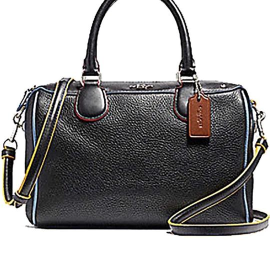 Coach Satchel in SILVER/BLACK MULTI Image 3