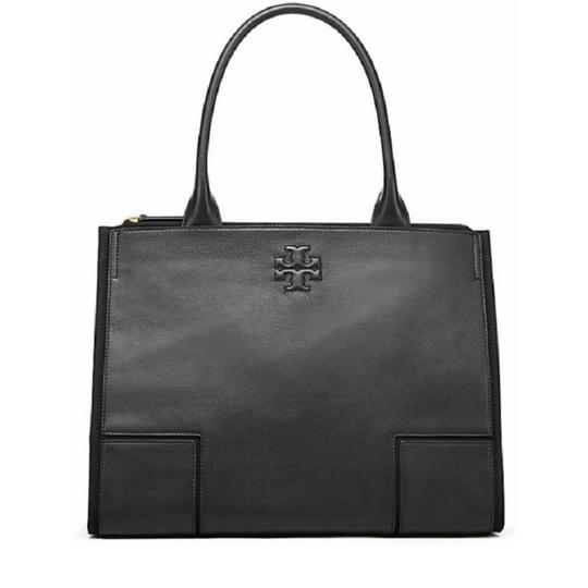 Preload https://img-static.tradesy.com/item/24555194/tory-burch-canvas-black-leather-tote-0-0-540-540.jpg