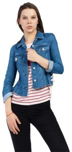French Connection Lace Top Womens Jean Jacket