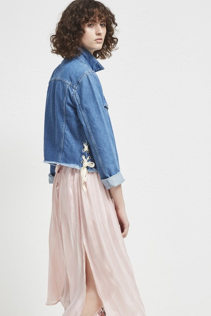 French Connection Lace Top Womens Jean Jacket Image 3
