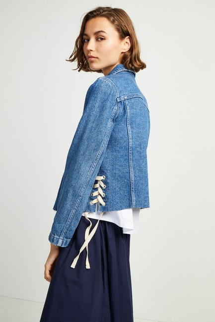 French Connection Lace Top Womens Jean Jacket Image 4