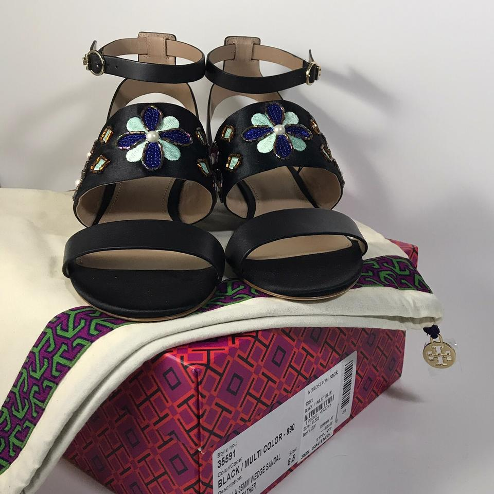 dec372023d Tory Burch Ballet Flat Leather New 6.5 Black Sandals Image 7. 12345678
