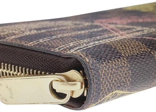 Louis Vuitton Limited Edition Brown Damier Ebene Coated Canvas Zippered Wallet Image 1
