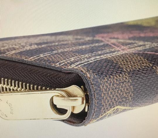 Louis Vuitton Limited Edition Brown Damier Ebene Coated Canvas Zippered Wallet Image 2