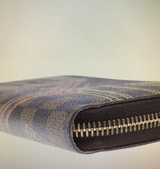 Louis Vuitton Limited Edition Brown Damier Ebene Coated Canvas Zippered Wallet Image 9