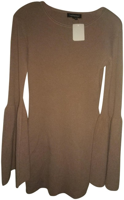 Preload https://img-static.tradesy.com/item/24555326/theperfext-brown-m-knitted-long-sweater-or-short-casual-dress-size-10-m-0-1-650-650.jpg