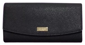 Kate Spade NWT Kate Spade Caia Laurel Way Clutch Wallet WLRU4875 Black originally
