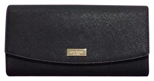 Preload https://img-static.tradesy.com/item/24555384/kate-spade-black-caia-laurel-way-clutch-wlru4875-wallet-0-1-540-540.jpg
