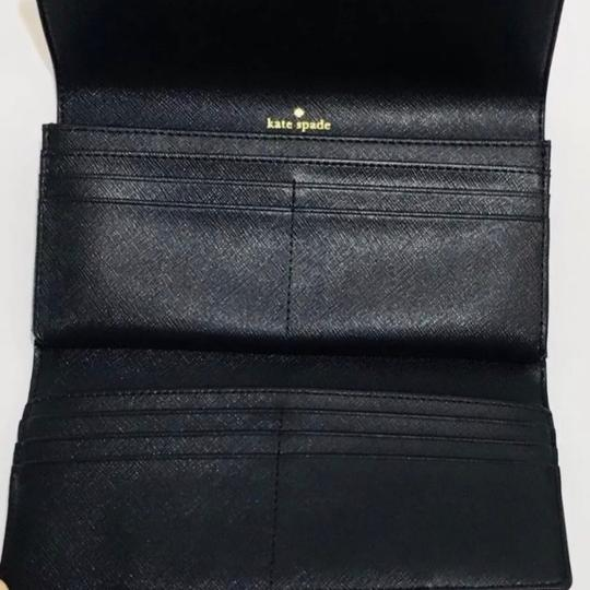 Kate Spade NWT Kate Spade Caia Laurel Way Clutch Wallet WLRU4875 Black originally Image 4