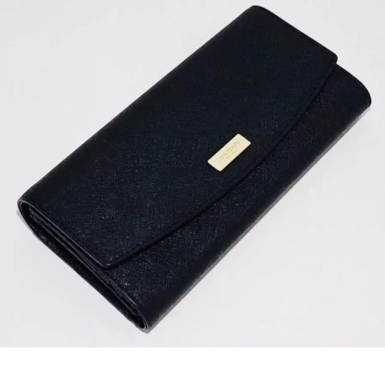 Kate Spade NWT Kate Spade Caia Laurel Way Clutch Wallet WLRU4875 Black originally Image 5