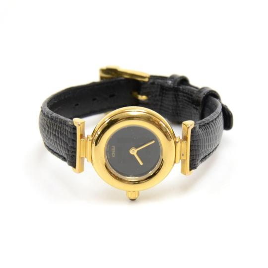 Fendi Fendi Alligator Embossed Leather & Gold-tone Hardware Quartz Watch Image 1