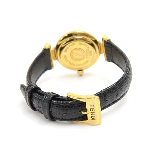 Fendi Fendi Alligator Embossed Leather & Gold-tone Hardware Quartz Watch Image 2