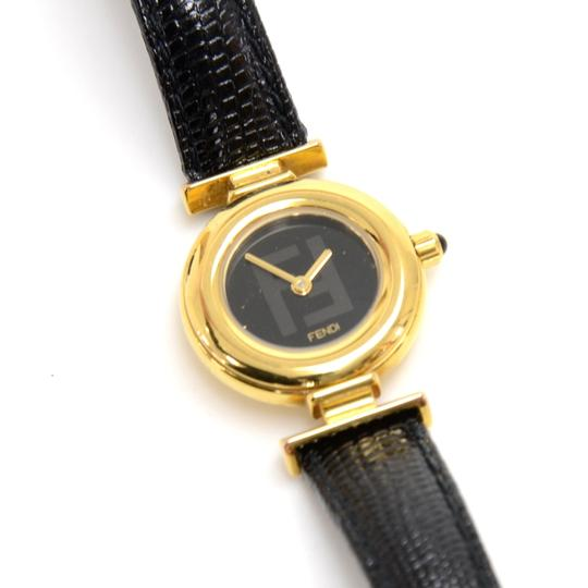 Fendi Fendi Alligator Embossed Leather & Gold-tone Hardware Quartz Watch Image 5