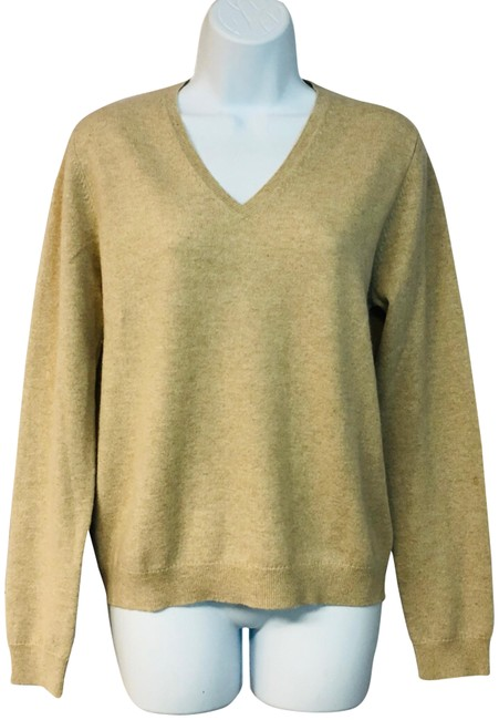 Preload https://img-static.tradesy.com/item/24555439/saks-fifth-avenue-cashmere-knit-tan-sweater-0-1-650-650.jpg