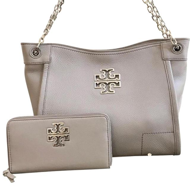 Item - Britten New Small Slouchy Wallet Set French Grey Leather Tote
