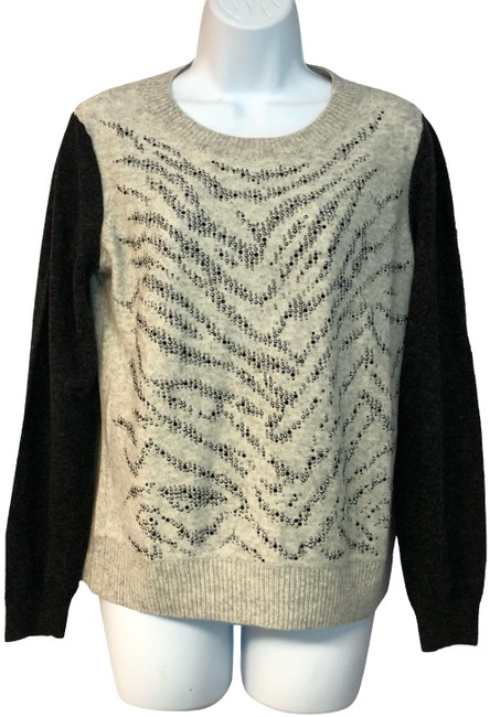 Preload https://img-static.tradesy.com/item/24555456/rebecca-taylor-beigegray-lambswool-cashmere-blend-knit-gray-sweater-0-2-650-650.jpg