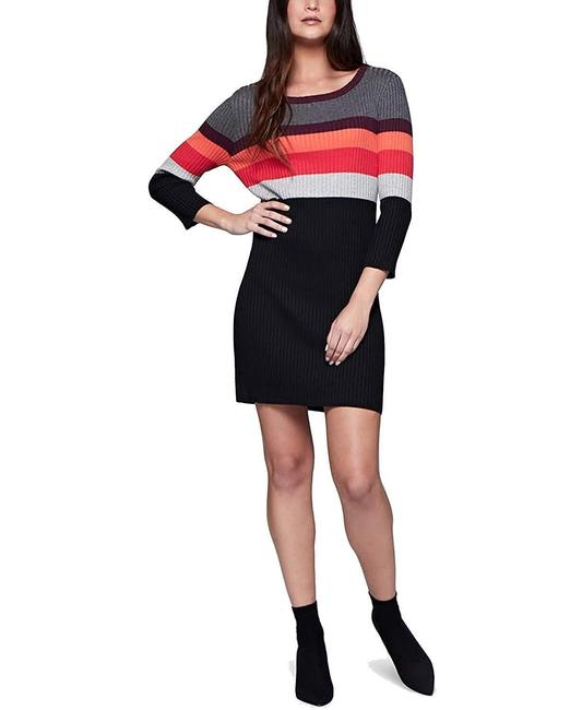Sanctuary short dress Black Striped Sweater Warm on Tradesy