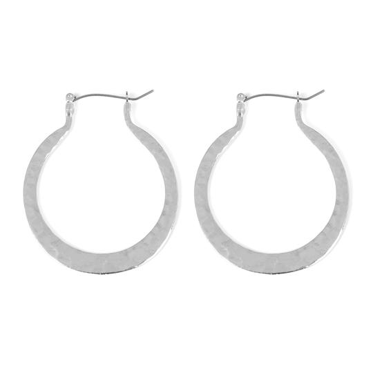 Preload https://img-static.tradesy.com/item/24555467/silver-hammered-horseshoe-hinge-earrings-0-0-540-540.jpg