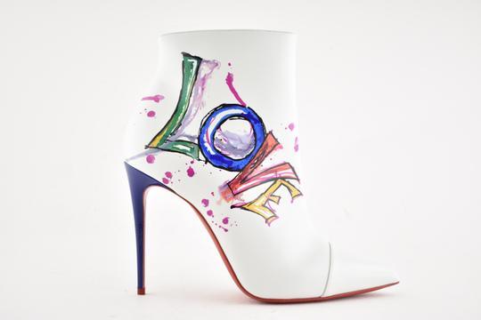 Christian Louboutin Stiletto Ankle Classic Love white Boots Image 1