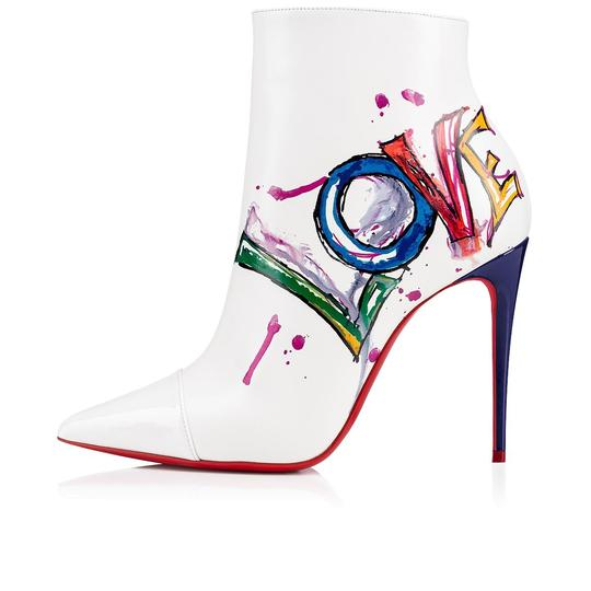 Christian Louboutin Stiletto Ankle Classic Love white Boots Image 2