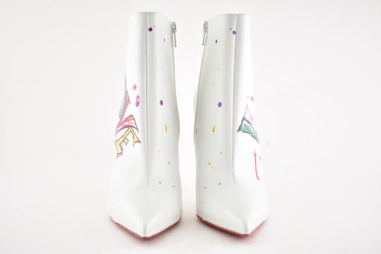 Christian Louboutin Stiletto Ankle Classic Love white Boots Image 4