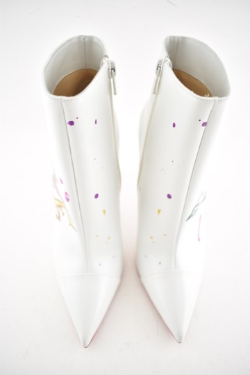 Christian Louboutin Stiletto Ankle Classic Love white Boots Image 5