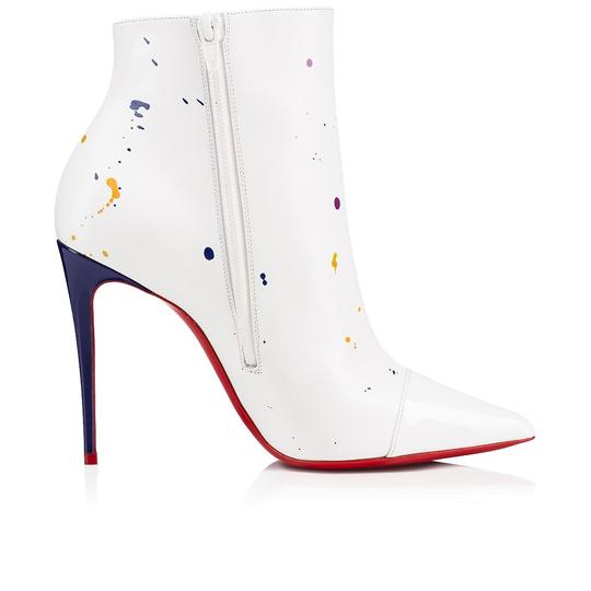 Christian Louboutin Stiletto Ankle Classic Love white Boots Image 6