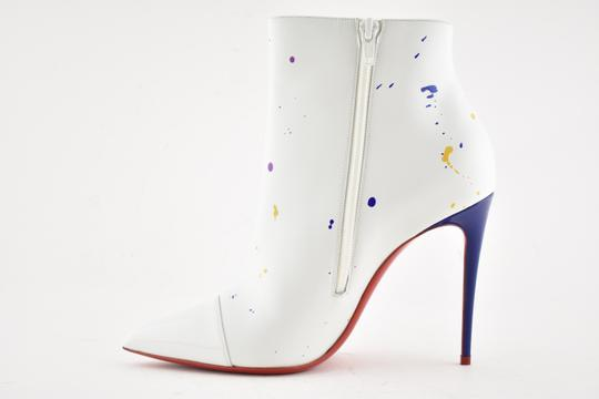 Christian Louboutin Stiletto Ankle Classic Love white Boots Image 7