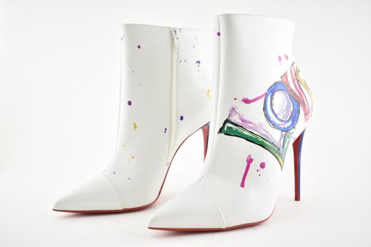 Christian Louboutin Stiletto Ankle Classic Love white Boots Image 8