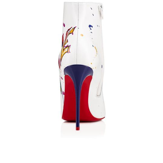 Christian Louboutin Stiletto Ankle Classic Love white Boots Image 9