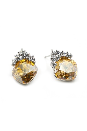 Ocean Fashion Yellow Lovely cute crystal earrings