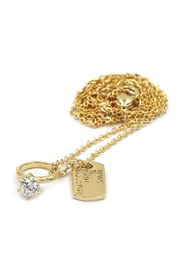 Ocean Fashion 925 gold Square brand crystal ring necklace Image 1