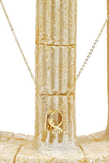 Ocean Fashion 925 gold Square brand crystal ring necklace Image 3