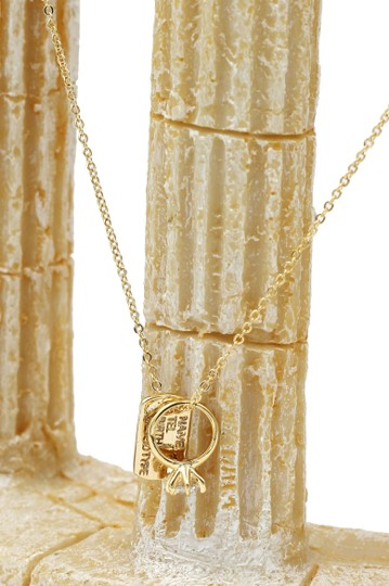 Ocean Fashion 925 gold Square brand crystal ring necklace Image 4